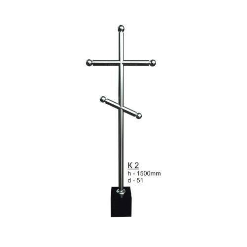 Крест из нержавеющей стали №2